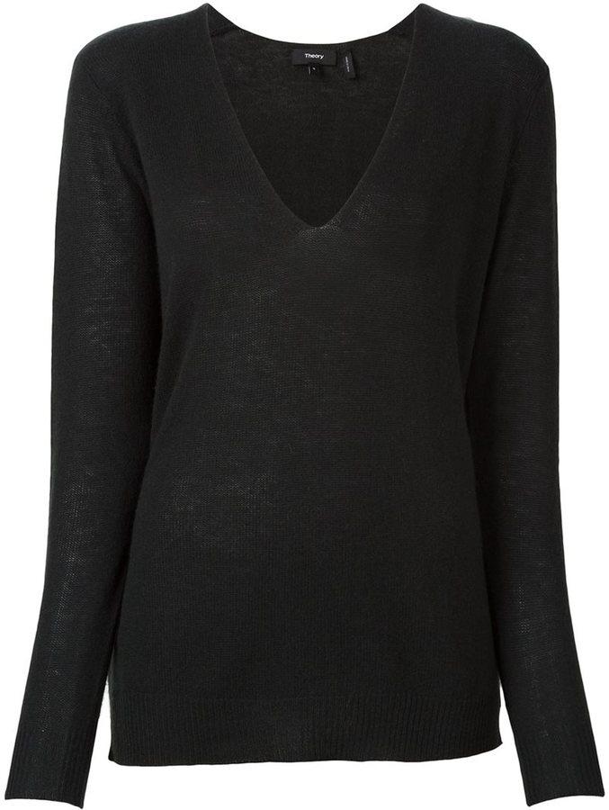 TheoryTheory v neck fine knit jumper