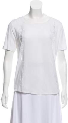 The Kooples Short Sleeve Lace Top