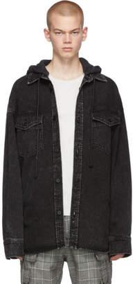 Juun.J Black Oversized Denim Jacket