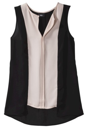 Mossimo Women's Sleeveless Front Placket Top - Assorted Colors