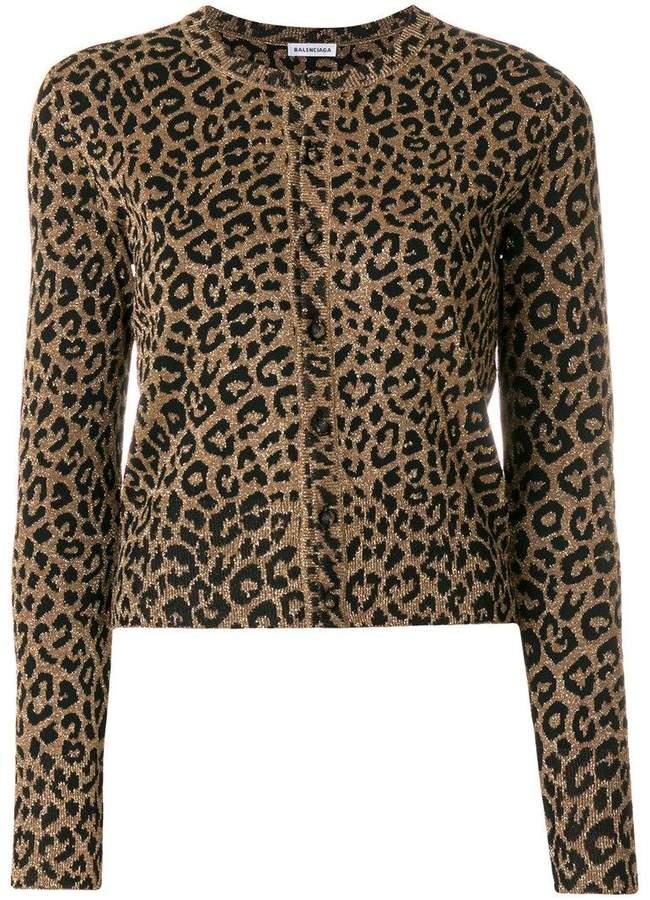 Leopard Cropped Cardigan
