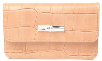 Longchamp Reptile Embossed Leather Coin Purse