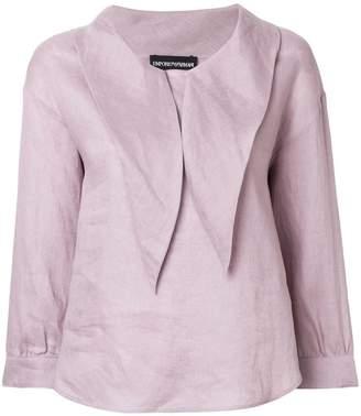 Emporio Armani pointed-collar blouse