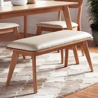 Skagen Homevance HomeVance Natural Finish Upholstered Bench