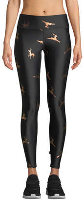 Terez Foil-Printed Tall-Band Activewear Leggings