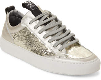 P448 Platinum Soho Snake-Effect Low-Top Sneakers