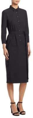Akris Punto Belted Cotton Shirt Dress