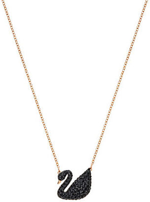 Swarovski Iconic Swan 18K Rose Goldplated Pendant Necklace $99 thestylecure.com