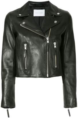 Nobody Denim Classic Leather Jacket Blk Leather
