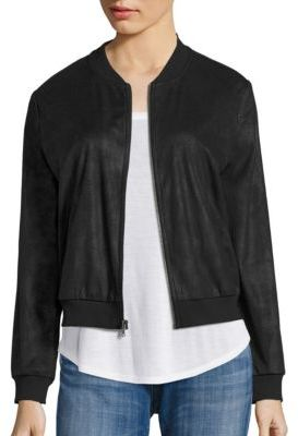 Ella Moss Faux Leather Bomber Jacket $198 thestylecure.com