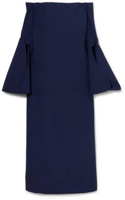 Ellery Gertie Off-the-shoulder Crepe Midi Dress