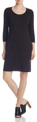 Foxcroft Diamond Geo Sweater Dress $98 thestylecure.com