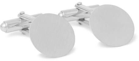 Lanvin Brushed Rhodium-Plated Cufflinks