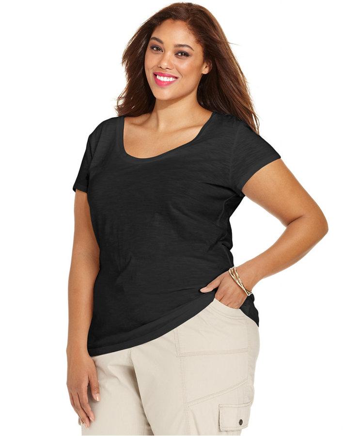 Style&Co. Sport Plus Size Short-Sleeve Tee