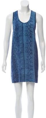 Joie Snakeskin Print Shift Dress