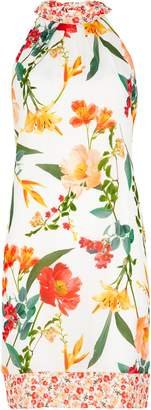 WallisWallis Cream Floral Print Shift Dress