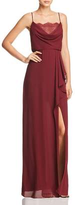 BCBGMAXAZRIA Lace-Detail Draped Gown - 100% Exclusive