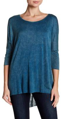 Angie Mineral Wash Dolman Sleeve Blouse
