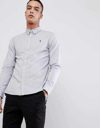 AllSaints long sleeve shirt in poplin