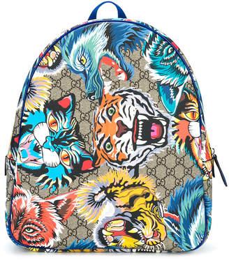 Gucci Kids GG Supreme jungle backpack