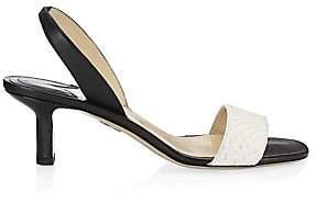 Paul Andrew Women's Longo Python Slingback Sandal