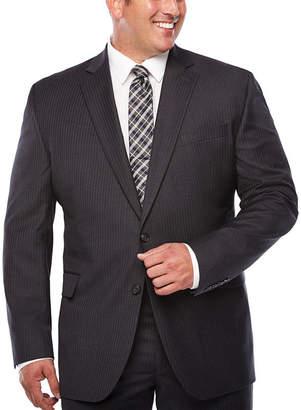 STAFFORD Stafford Stripe Classic Fit Suit Jacket-Big and Tall