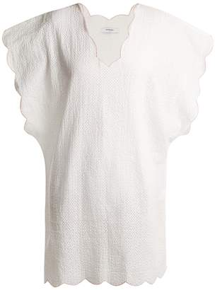 Marysia Swim Shelter Island scallop-edged cotton cover-up