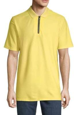 Calvin Klein Solid Front-Zip Polo