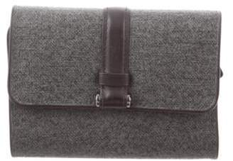 Tumi Leather Trifold Wallet Grey Leather Trifold Wallet