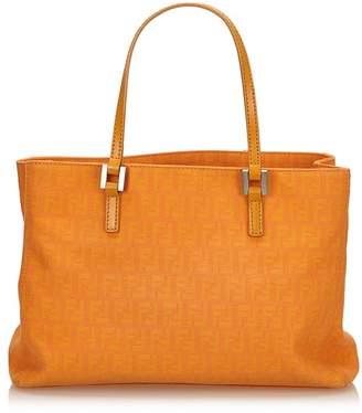 Fendi Vintage Zucca Jacquard Tote Bag