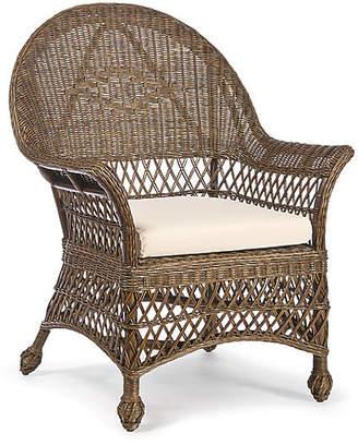One Kings Lane Vineyard's Wicker Armchair - Walnut