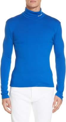 Calvin Klein Wool Jersey Turtleneck