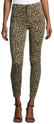 J Brand Alana High-Rise Skinny Ankle Jeans, Gold Leopard $198 thestylecure.com