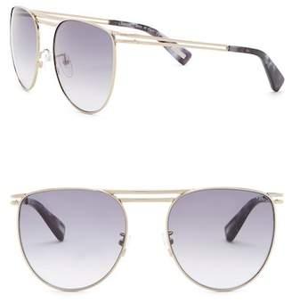 Lanvin 57mm Modified Round Metal Sunglasses