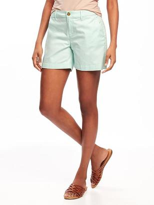 "Mid-Rise Everyday Khaki Shorts for Women (5"") $22.94 thestylecure.com"