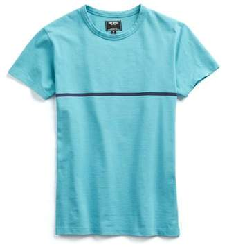 Todd Snyder Aqua and Navy Stripe Tee