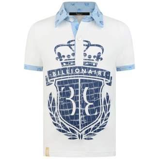 Billionaire BillionaireBoys Ivory & Blue Exter Polo Shirt