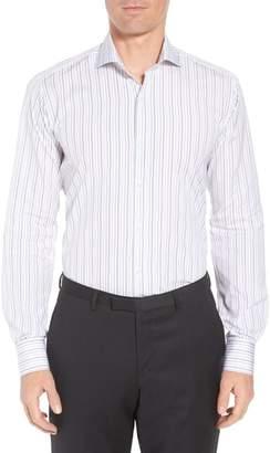Ike Behar Regular Fit Stripe Dress Shirt
