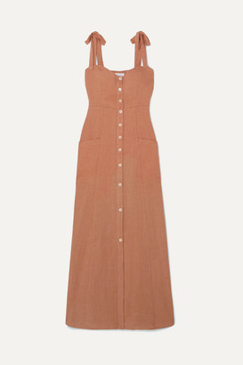 Josie Honorine Linen Maxi Dress - Tan