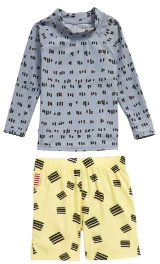 SOOKIbaby Licorice Two-Piece Rashguard Swim Suit