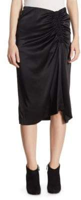 Theory Tonal Stitched Knee-Length Skirt
