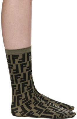 Fendi Brown FF Socks