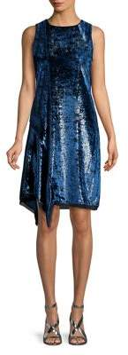 Elie Tahari Tinsel Asymmetrical Shift Dress