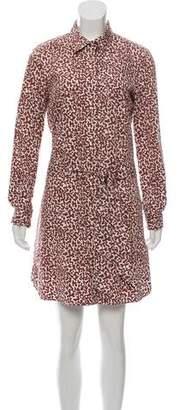 Diane von Furstenberg Button-Up Knee-Length Dress
