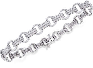 Wrapped in Love Diamond Link Bracelet (1-1/2 ct. t.w.) in 14k White Gold, Created for Macy's