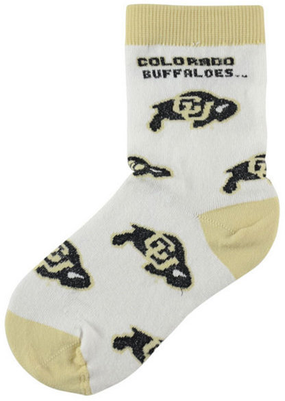 For Bare Feet Toddlers' Colorado Buffaloes Socks