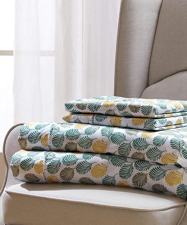 Green & Yellow Fern Sheet Set