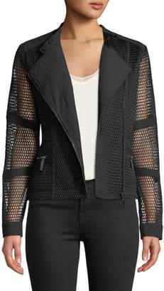 Moto Anna Cai Mesh Zip-Pocket Jacket