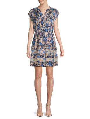 Rebecca Taylor Women's Silk Gigi Floral Shirtdress
