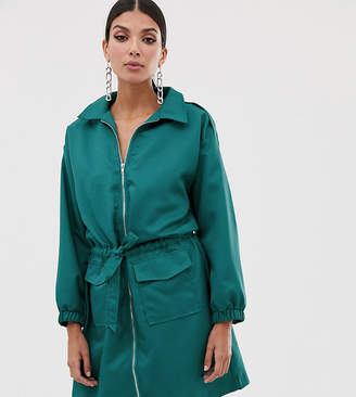 Missguided Tall utility dress in teal